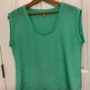 🆕J. Crew Neon Green Blouse Size 10